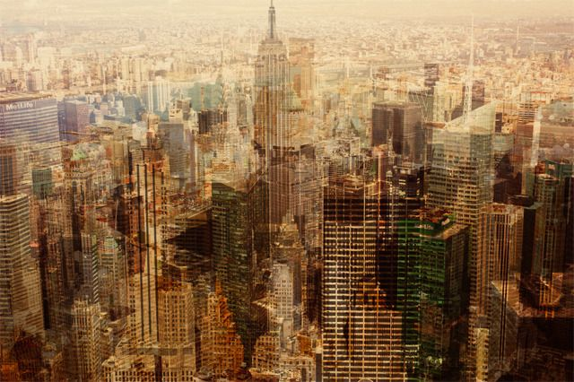 Manhattan's Skyscapers Get A Turner-Esque Makeover In These Multilayered Photographs Florian Mueller's