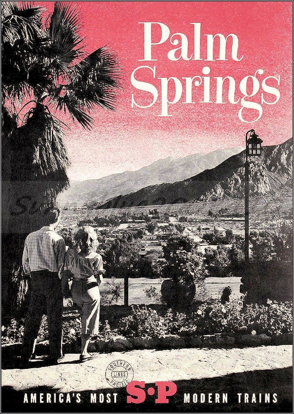 Palm Springs California Vintage United States Travel Advertisement Art Poster