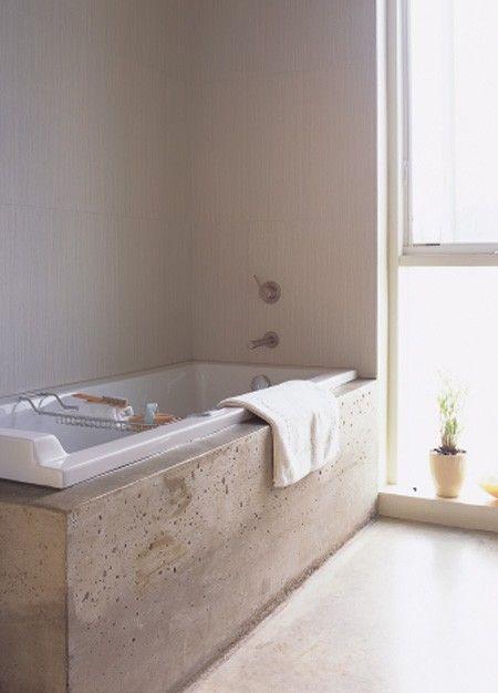 Elegant Concrete Bathroom Polished Cement Floors