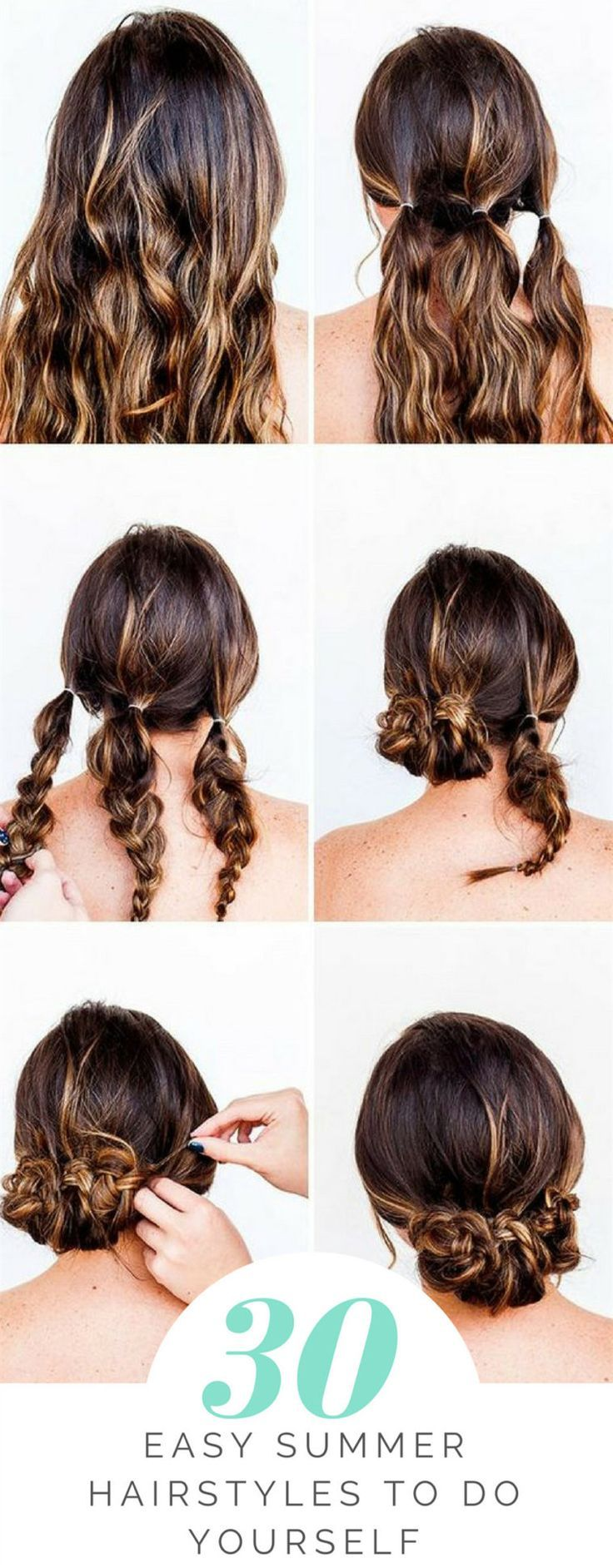 30 Easy Summer Hairstyles To Do Yourself Hairstyles Hairs Hair Styles Long Hair Styles Quick Braids