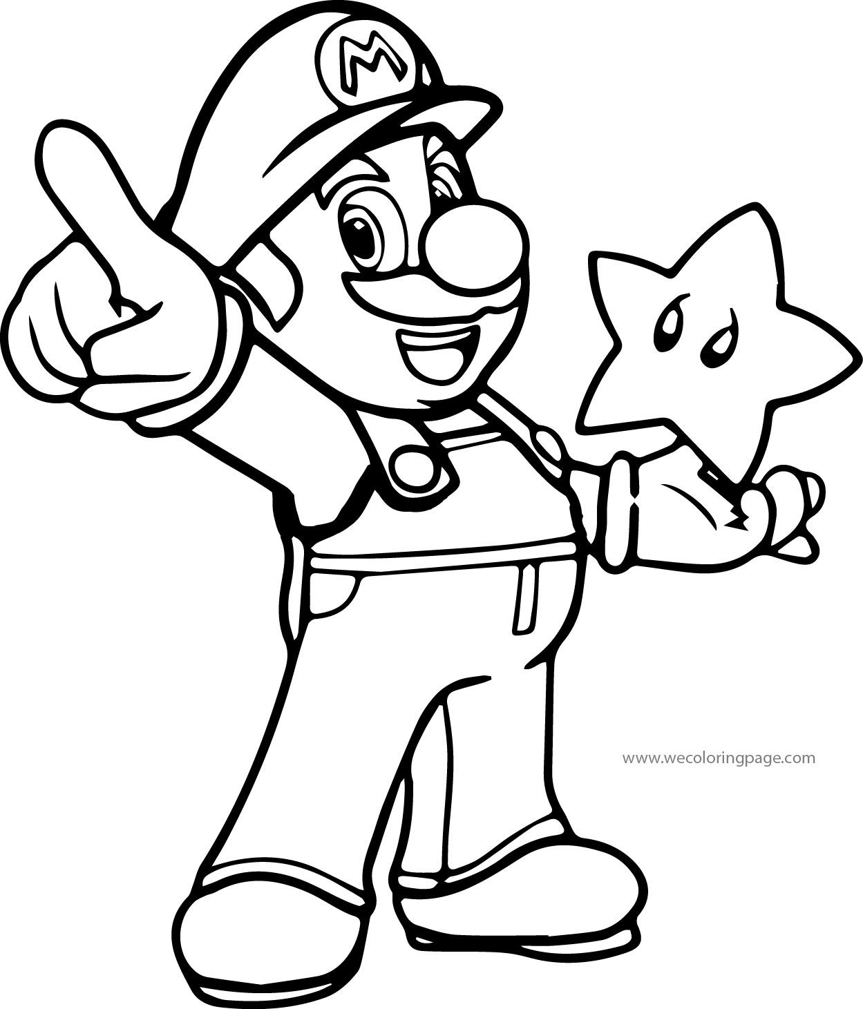 Coloring pages for kids mario bros - Awesome Super Mario Coloring Page