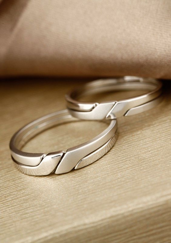 Interlocking Wedding Rings for Couples Infinity Promise rings