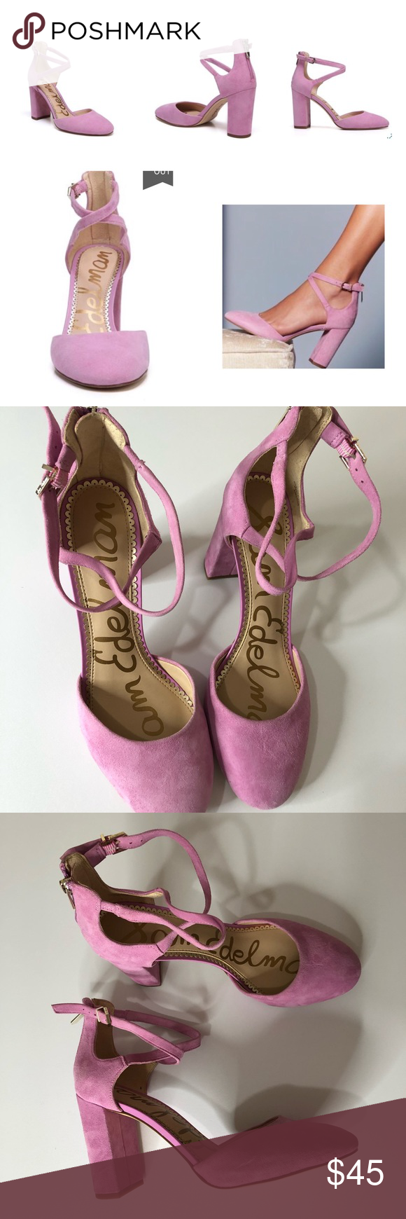 49f9c7787c Sam Edelman | Fiji Pink Simmons Pump Great used condition Some exterior  blemishes on the shoe