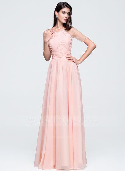 bf1db25213d A-Line Princess Scoop Neck Floor-Length Chiffon Prom Dress With Ruffle Beading  Sequins (018070348)