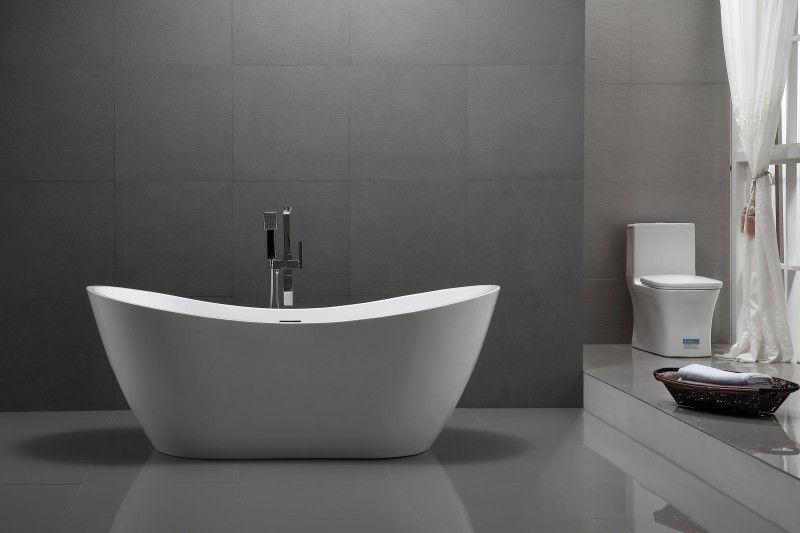 Freistehende Badewanne Acryl Viena Weiß 180 X 80 Cm Günstig Online