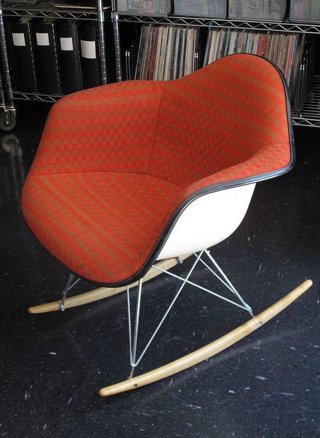 Orange Eames Chair Fauteuil Chaise Moderne