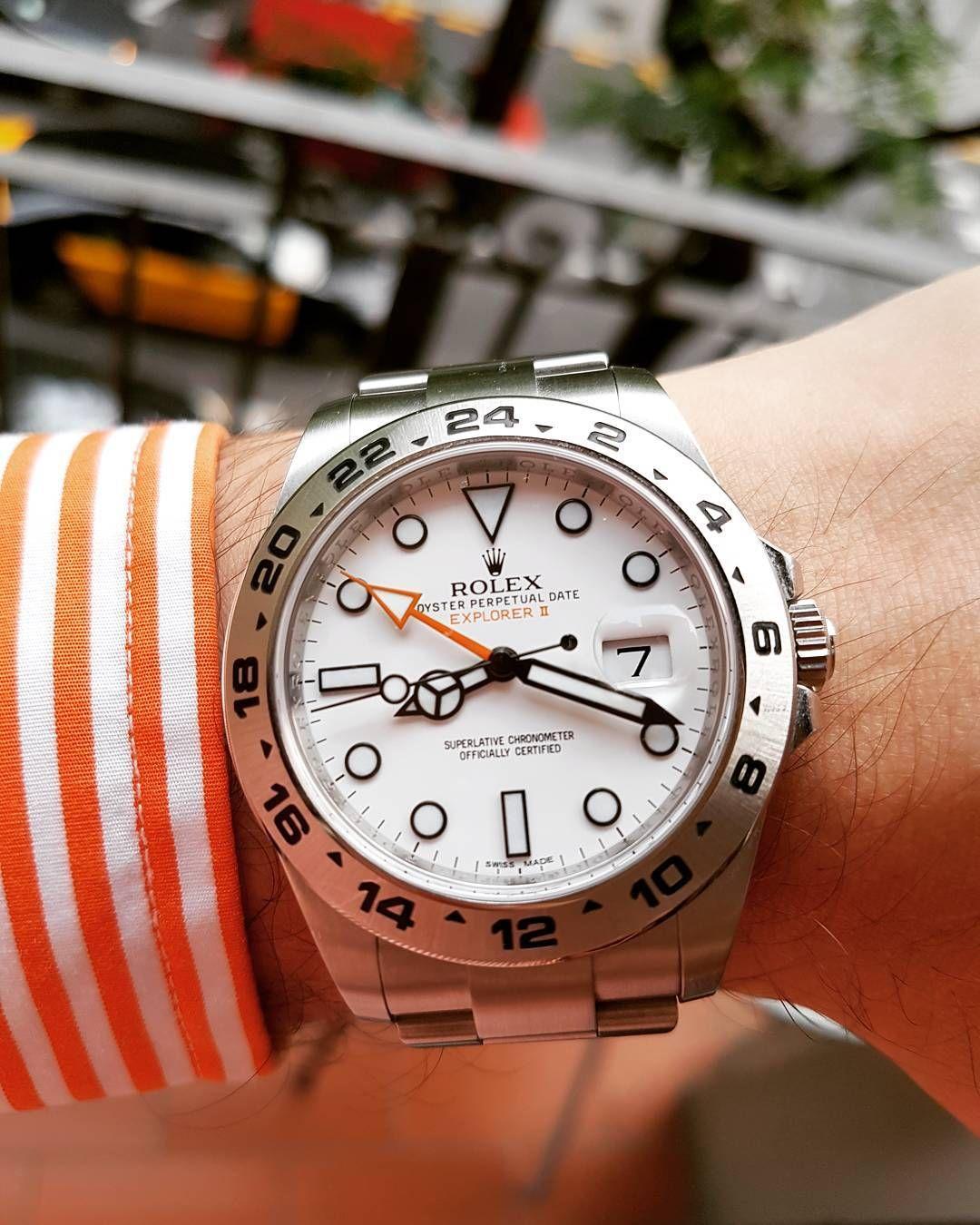 8d1f9ab1ece Guess I like orange and no I m not Dutch by crazybelgianwatchlover Rolex  Explorer Ii