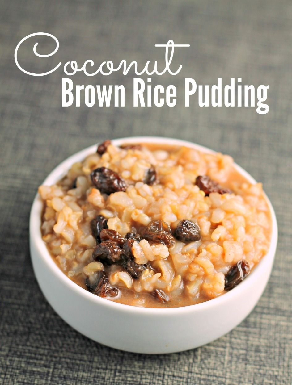Coconut Brown Rice Pudding | Festival Foods | Recipe ...