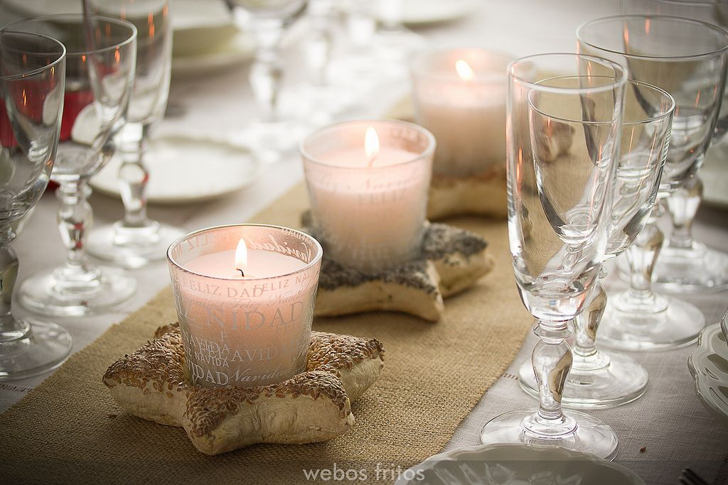 Centro de mesa hechos con pan semillas de lino y semillas - Centros de mesa navidenos hechos a mano ...