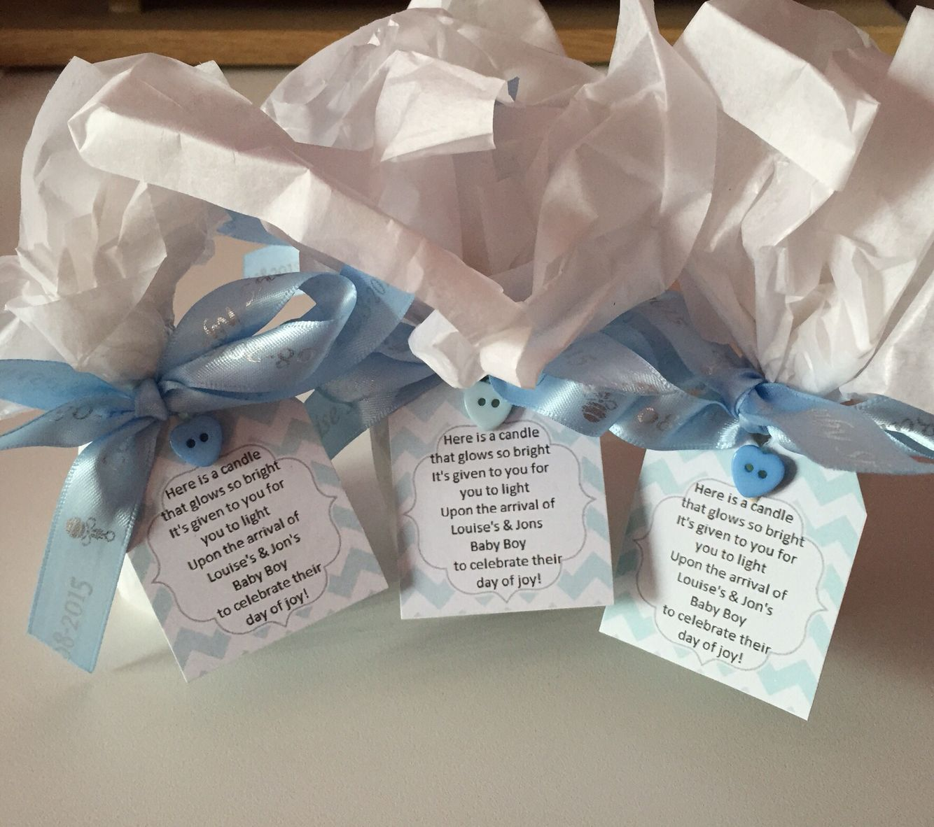 Baby Shower Favours Yankee Candles Soft Blanket And Poem On The