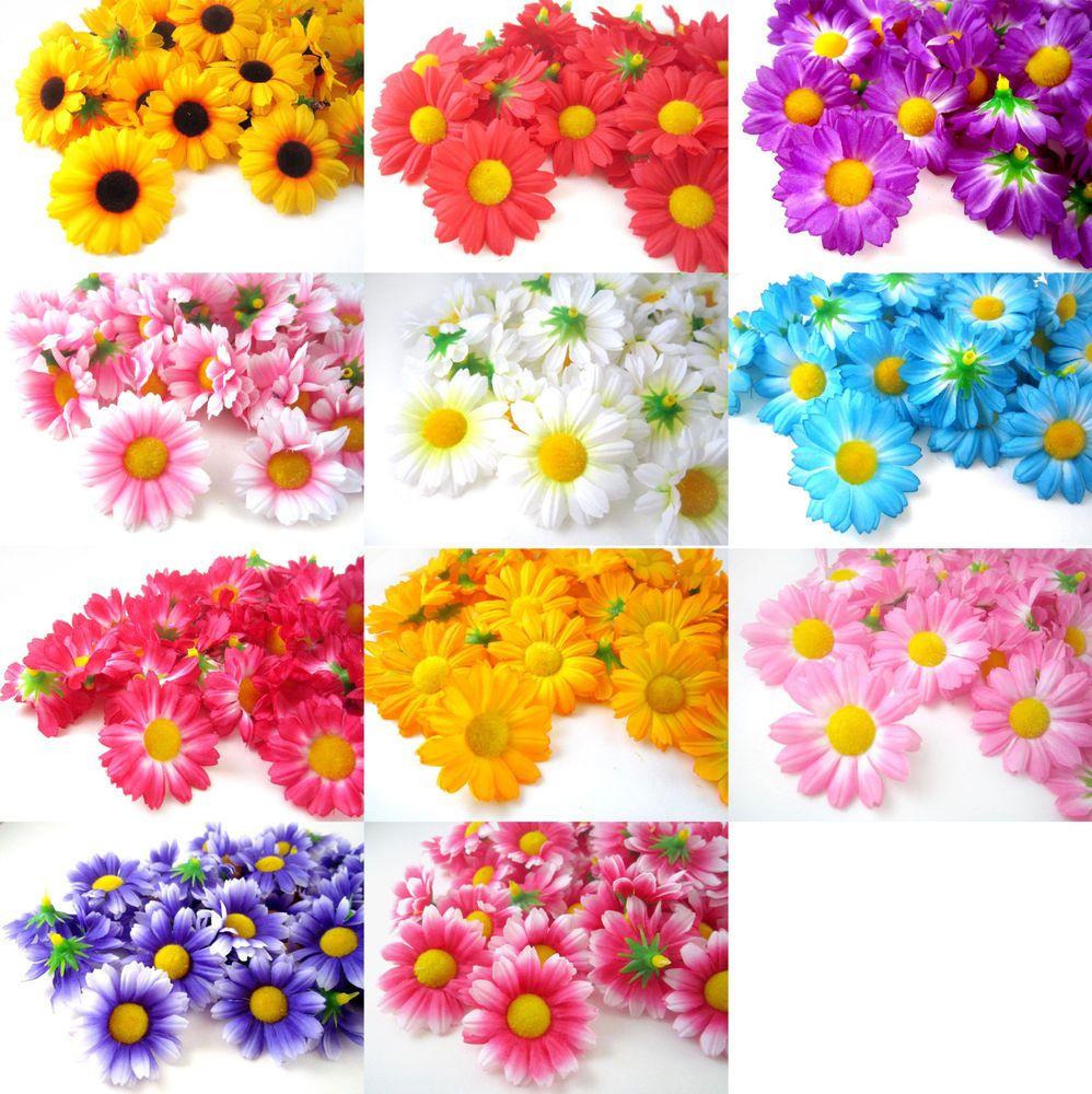 100pcs Gerbera Daisy Heads 175 Artificial Silk Flower Wedding Lot