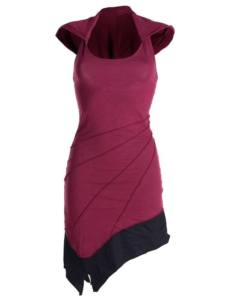 b0356c8d1a4e Details zu vishes Neckholder Kleid zweifarbig Sommerkleid Tunika ...