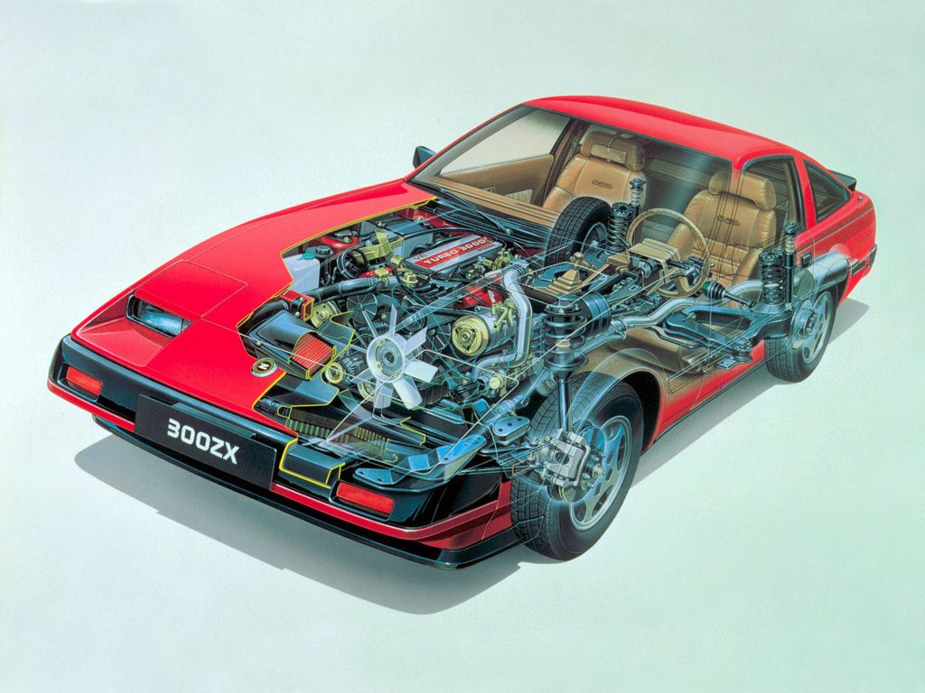 1984-1986 Nissan 300ZX Turbo (Z31) - Illustration