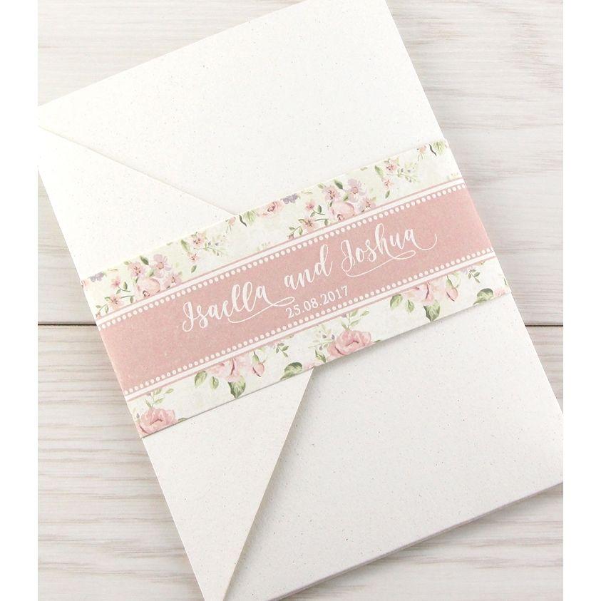 Clara Pocketfold Pure Invitation Wedding Invites Matrimonio