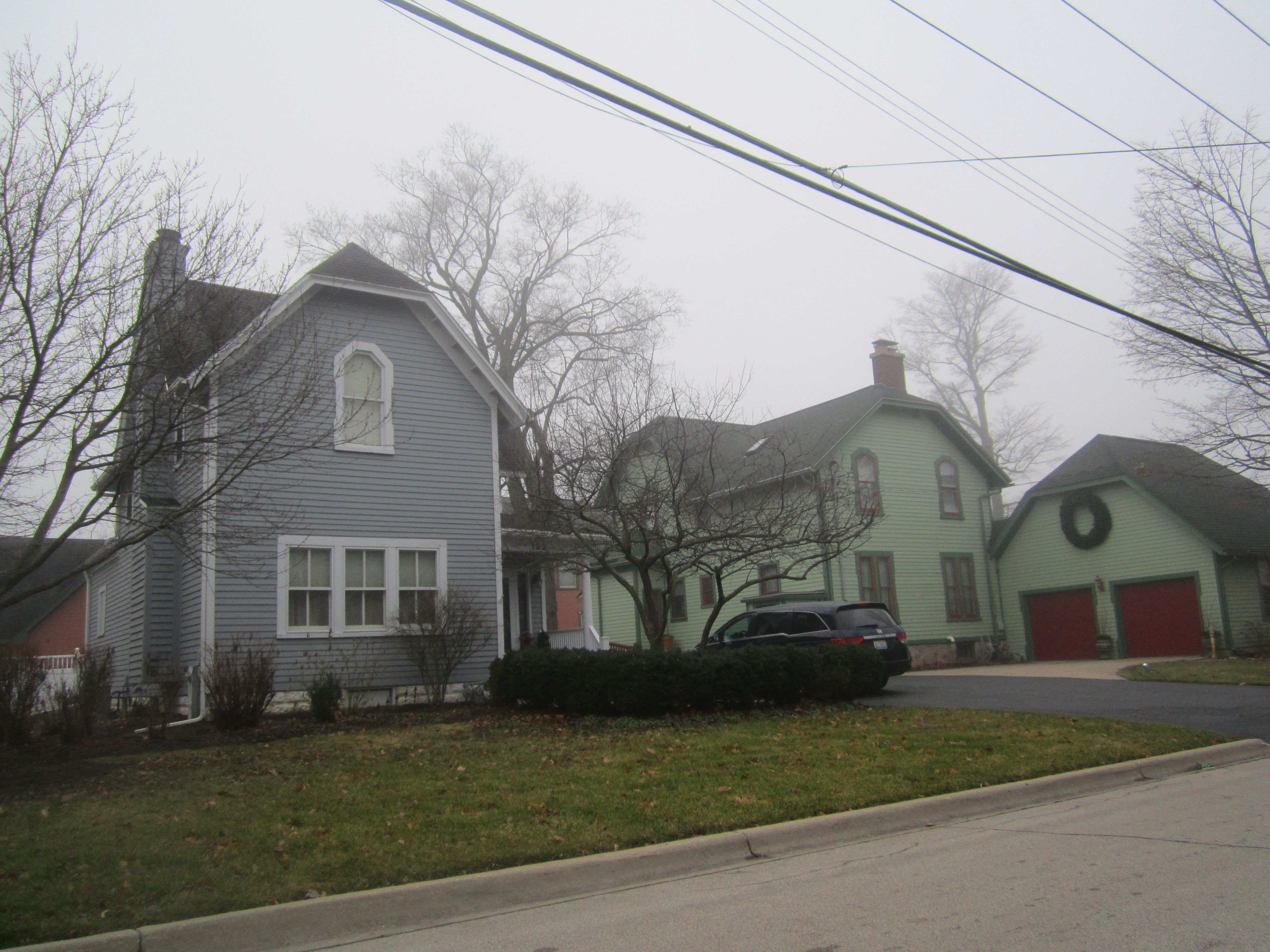 The Charles Kellum 1858 Was Once A Larger Structure Than It Is Today The Building At 123 Lincoln Street Directly Behind T Maine House Hip Roof House Styles