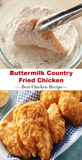 Buttermilk Country Fried Chicken Di 2020 Resep Makanan Makanan Resep Ayam