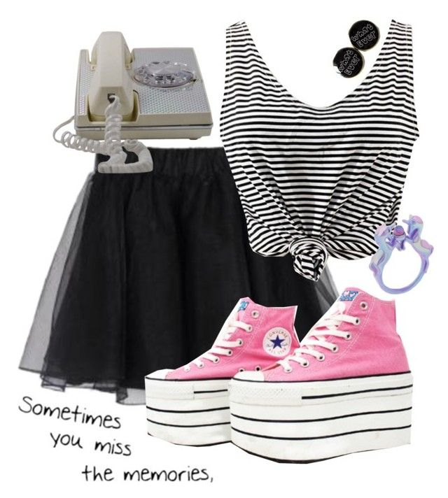 """CaLL Me BACk"" by weirdestgirlever ❤ liked on Polyvore featuring Converse"