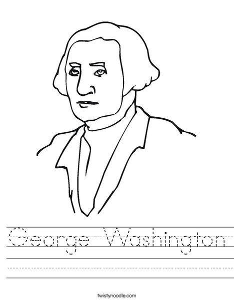George Washington Worksheet Twisty Noodle School Social