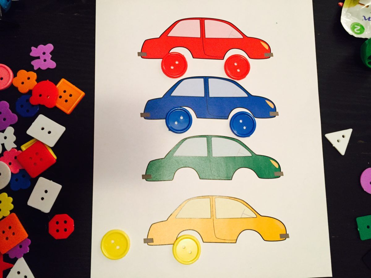 Match Buttons To Cars Free Printable Activities For 2 2