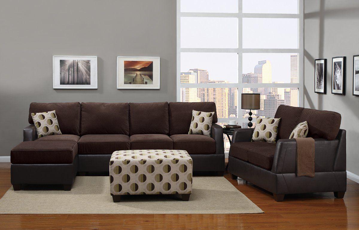 Tremendous Amazon Com 4 Pcs Living Room Set In Two Tone Finish Sofa Pabps2019 Chair Design Images Pabps2019Com