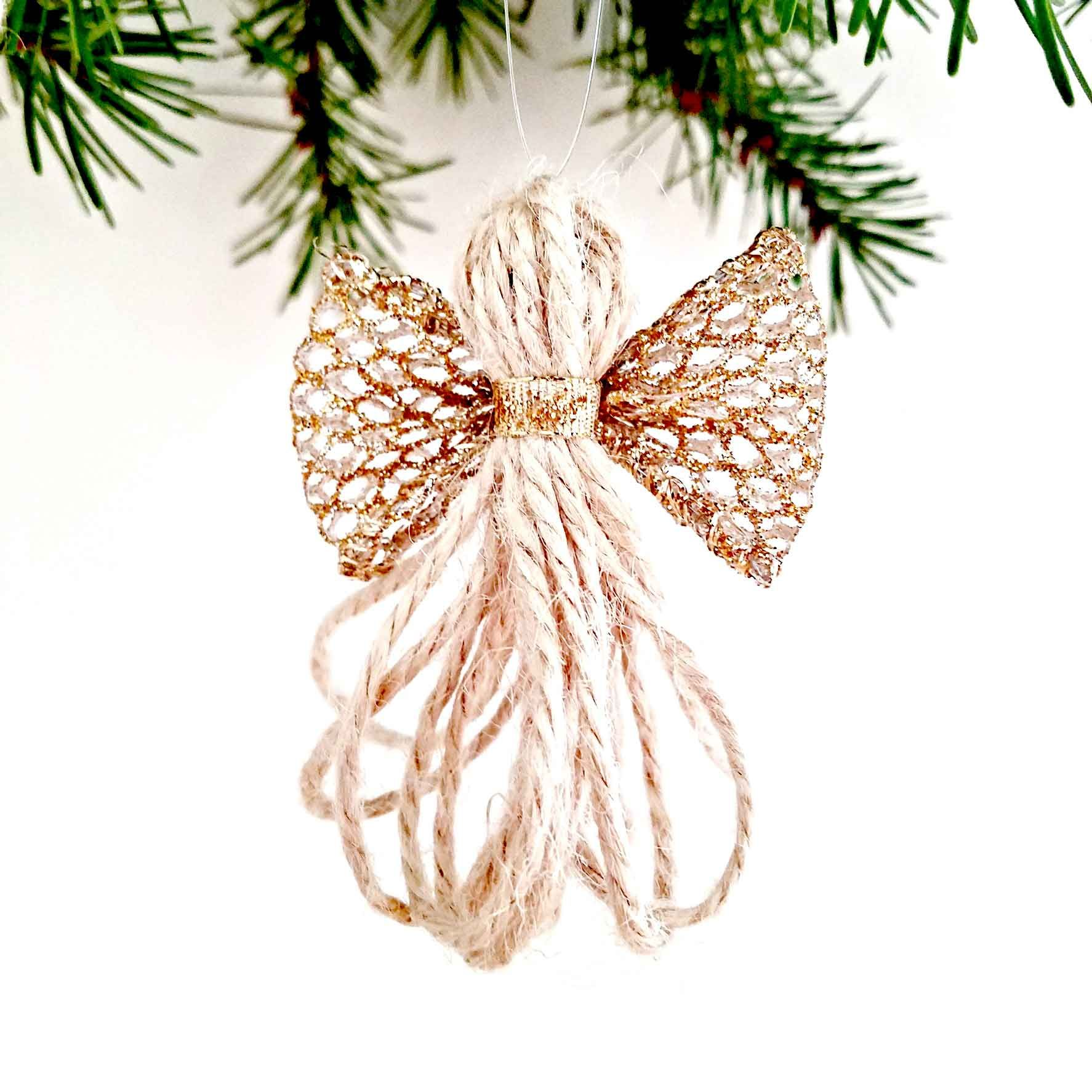 Diy Christmas Ornaments Twine Angels Mycraftchens Diy Christmas Ornaments Easy Diy Christmas Ornaments Easy Christmas Diy