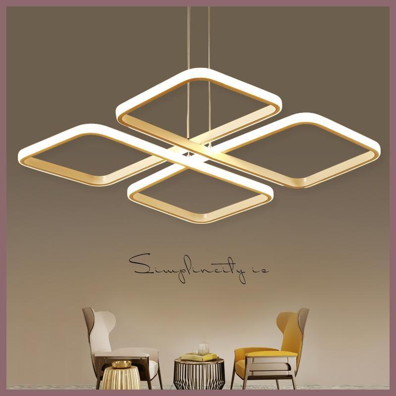 Square lampadario moderno Modern Led Pendant Chandelier