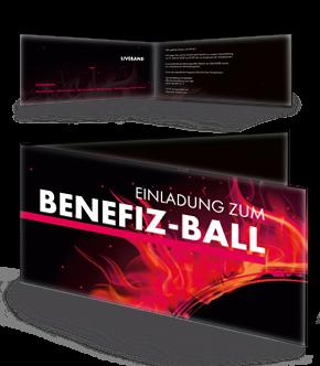 Einladungskarten für Benefiz Ball Veranstaltungen