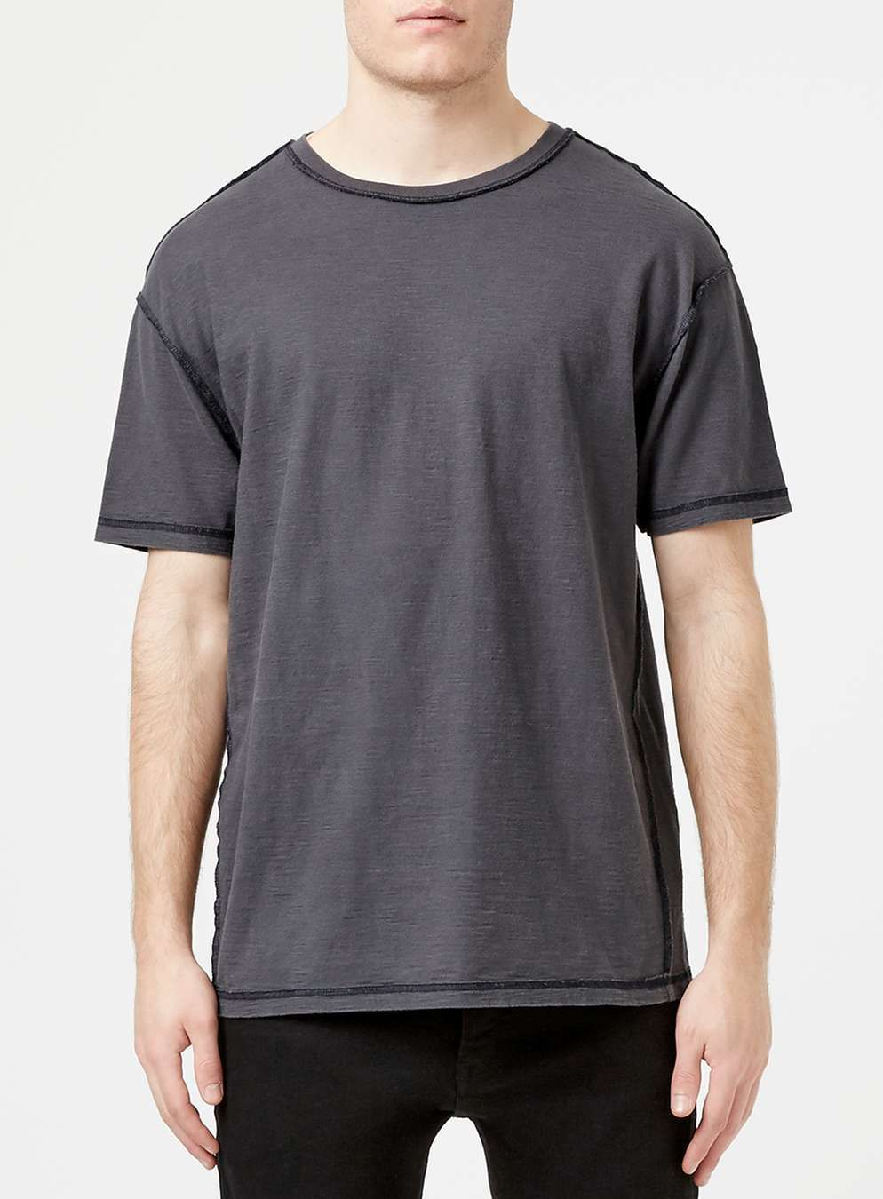 Washed Black Slubby Oversized T-Shirt - Men's T-Shirts & Vests ...