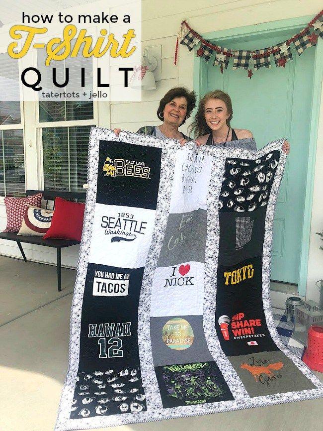 Cómo hacer una colcha de camiseta: ¡una idea de regalo atesorada para un adolescente o una adolescente!
