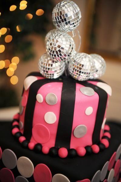 Disco Ball Cake Topper Cakepins Cakes Cupcakes Cookies And Inspiration Mini Disco Ball Cake Decoration