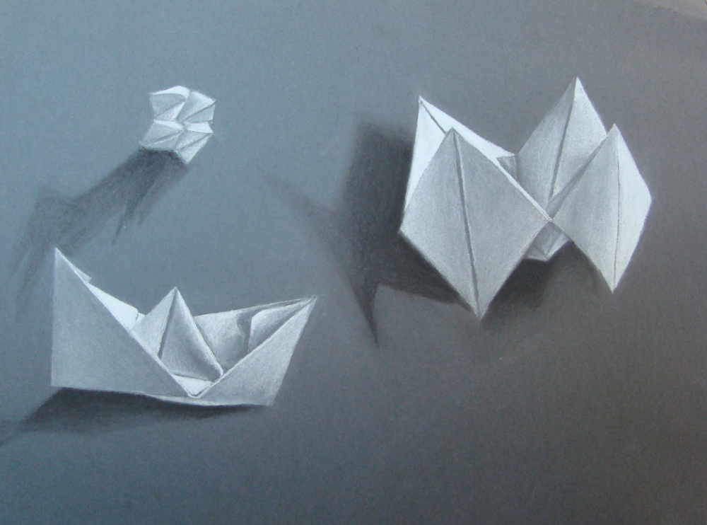 Photo of Die smARTteacher-Ressource: Charcoal Origami Drawing