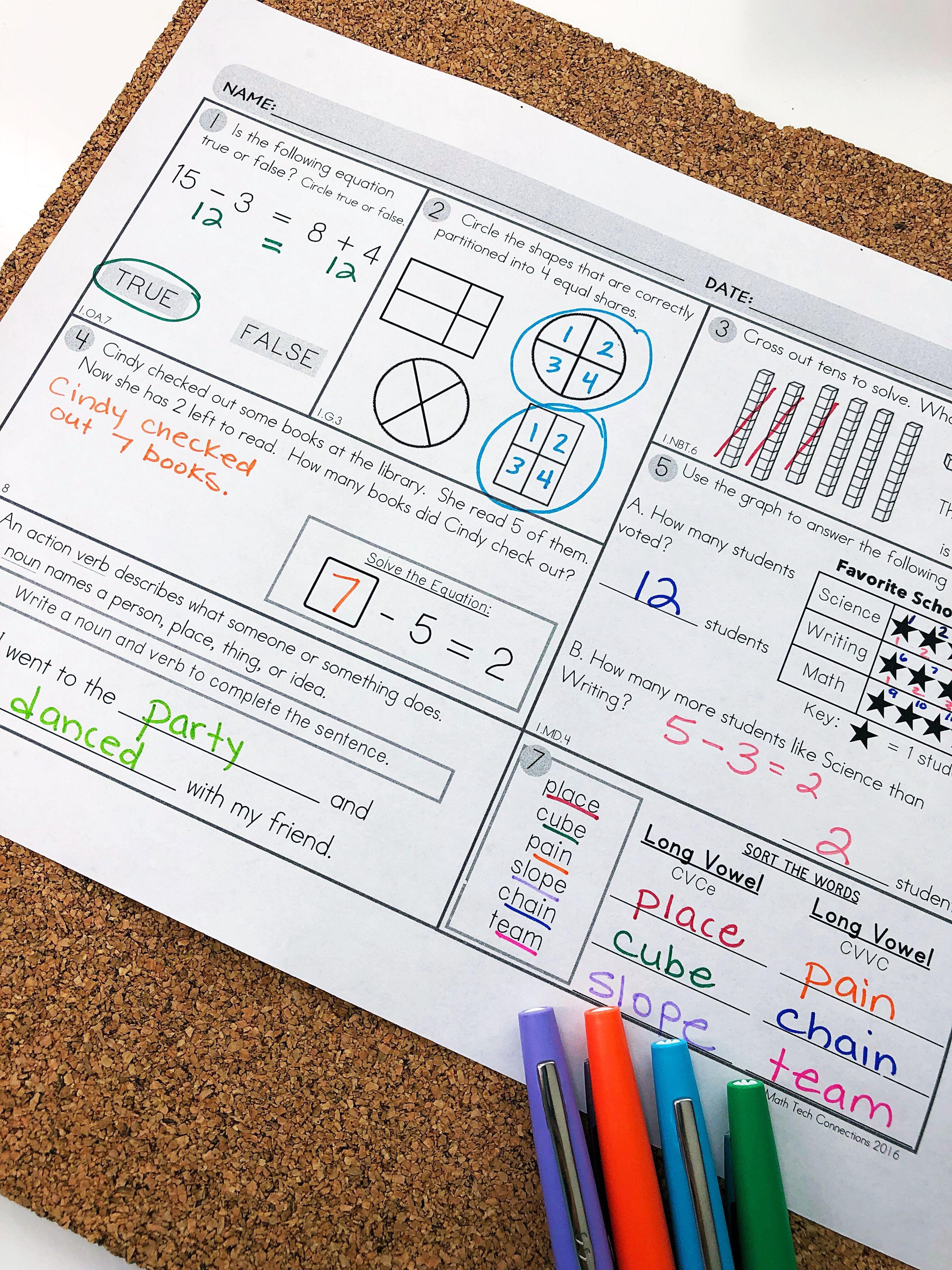 2nd Grade Math Worksheets To Spiral Review Math Morning