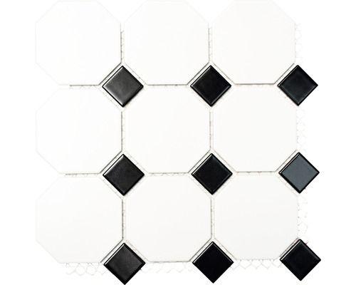 Mosaik Fliesen Mosaikfliesen Keramikmosaik Keramik Kachel schwarz wei/ß