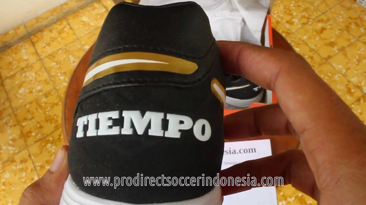Sepatu Futsal Nike Tiempo Mystic V Tf Black White Metalic Gold