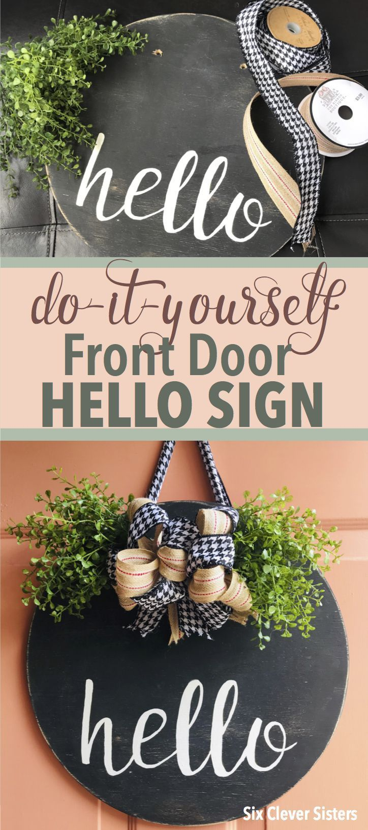 Photo of DIY Hello Front Door Sign – Six Clever Sisters