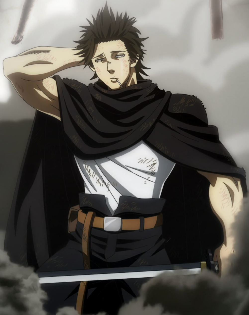 An Undisputed Badass Captain Yummy I Mean Yami Haha Black Clover Anime Black Clover Manga Black Bull