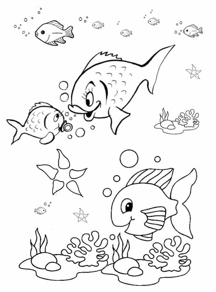 Fish Coloring Pages for Preschool - Preschool and ...