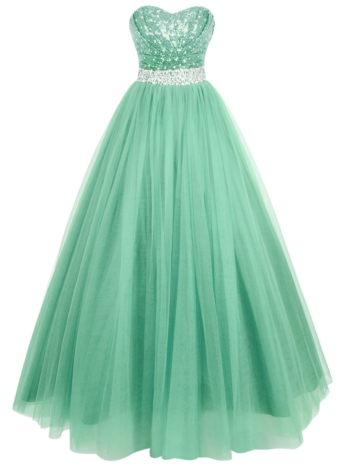 Glamour Sequin Sweetheart Neckline Long Prom Dress | Long prom ...