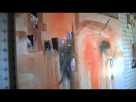 abstract acrylic painting demo abstrakte malerei orange power by sabine belz youtube abstrakt bilder gold leinwand