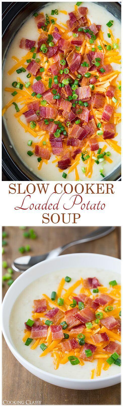 GlutenFree Slow Cooker Loaded Potato Soup Recipe detox
