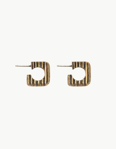 Brass Daphne Hoops| Dream Collective