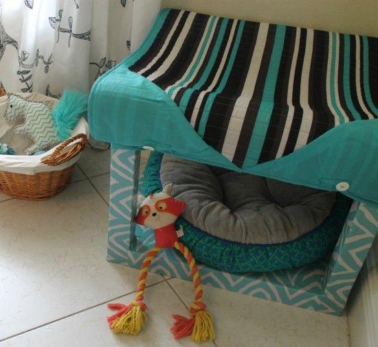 Old Lack Side Table Turned Into A Dog S House Ikea Dog Dog