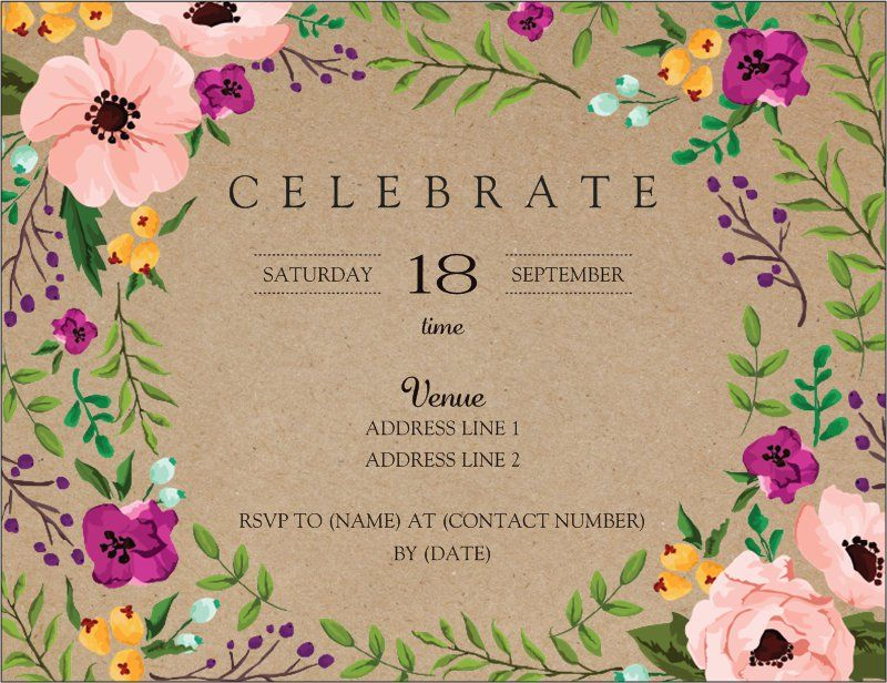 Adult Birthday Invitations And Announcements Templates Designs Page 2