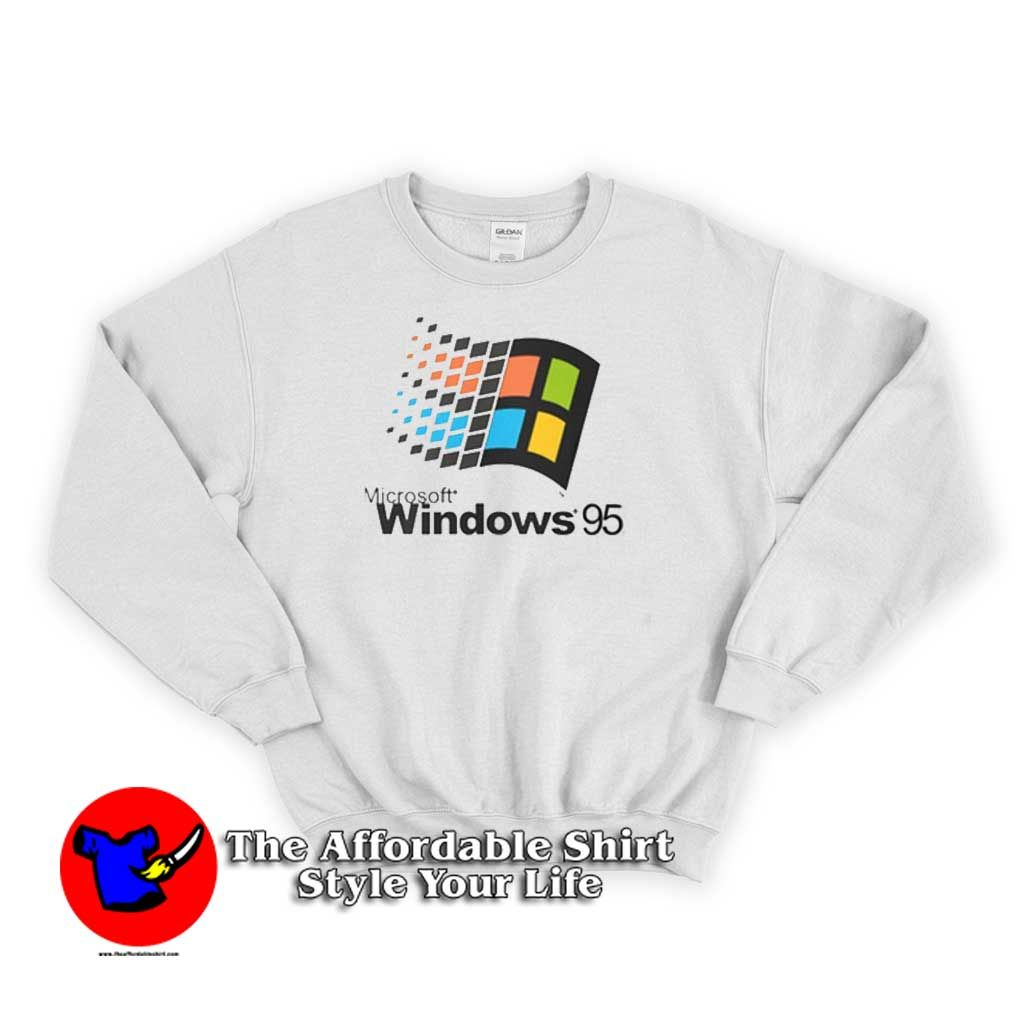 Get Buy Microsoft Windows 95 Logo Unisex Sweatshirts On Sale Unisex Sweatshirt Sweatshirts Sweatshirt Fashion [ 1024 x 1024 Pixel ]