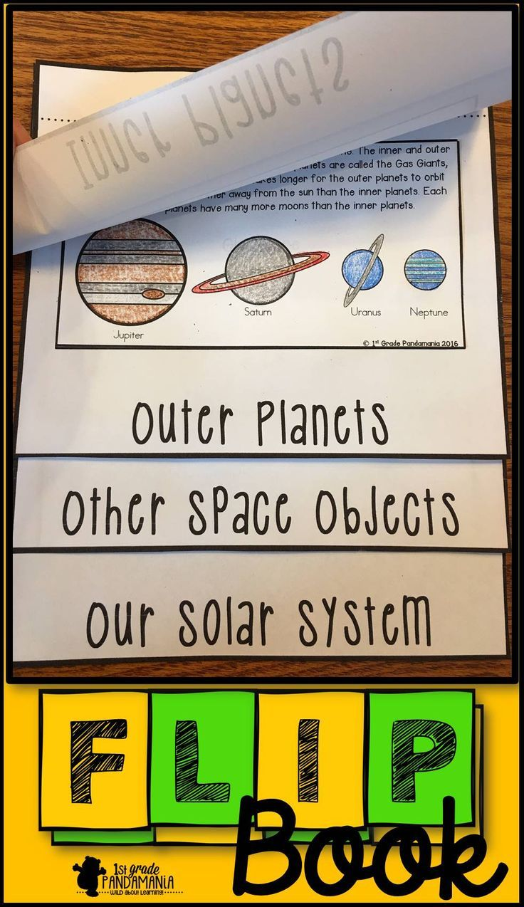 Solar System And Planets Flip Book Solar System Flip Book Solar System Unit Solar System