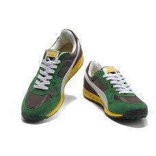 Puma Usain Bolt Green White Yellow Men Running Shoes