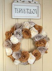 Ruusukranssi | Tuulia design. Iloa & Ideaa askarteluun ja käsitöihin!