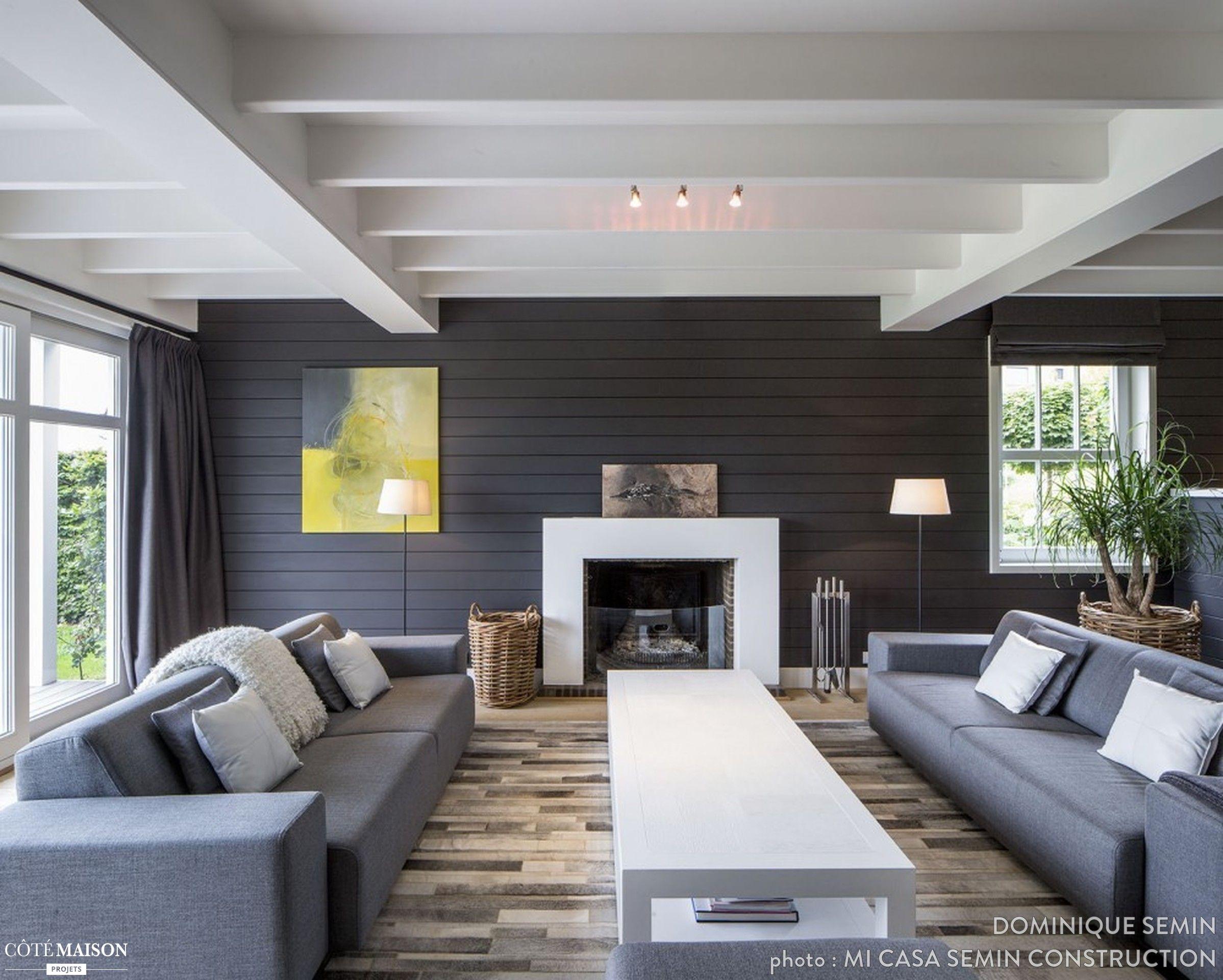Un salon qui revisite le style Nouvelle Angleterre. | Living Room ...