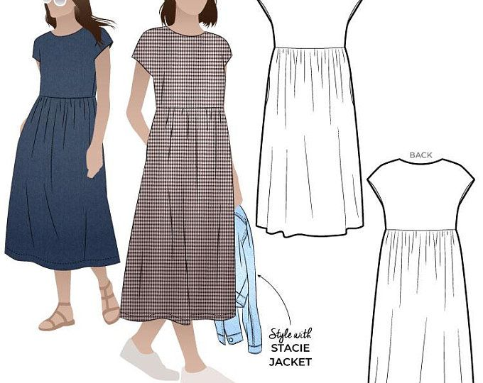 18 casual dress Patterns ideas
