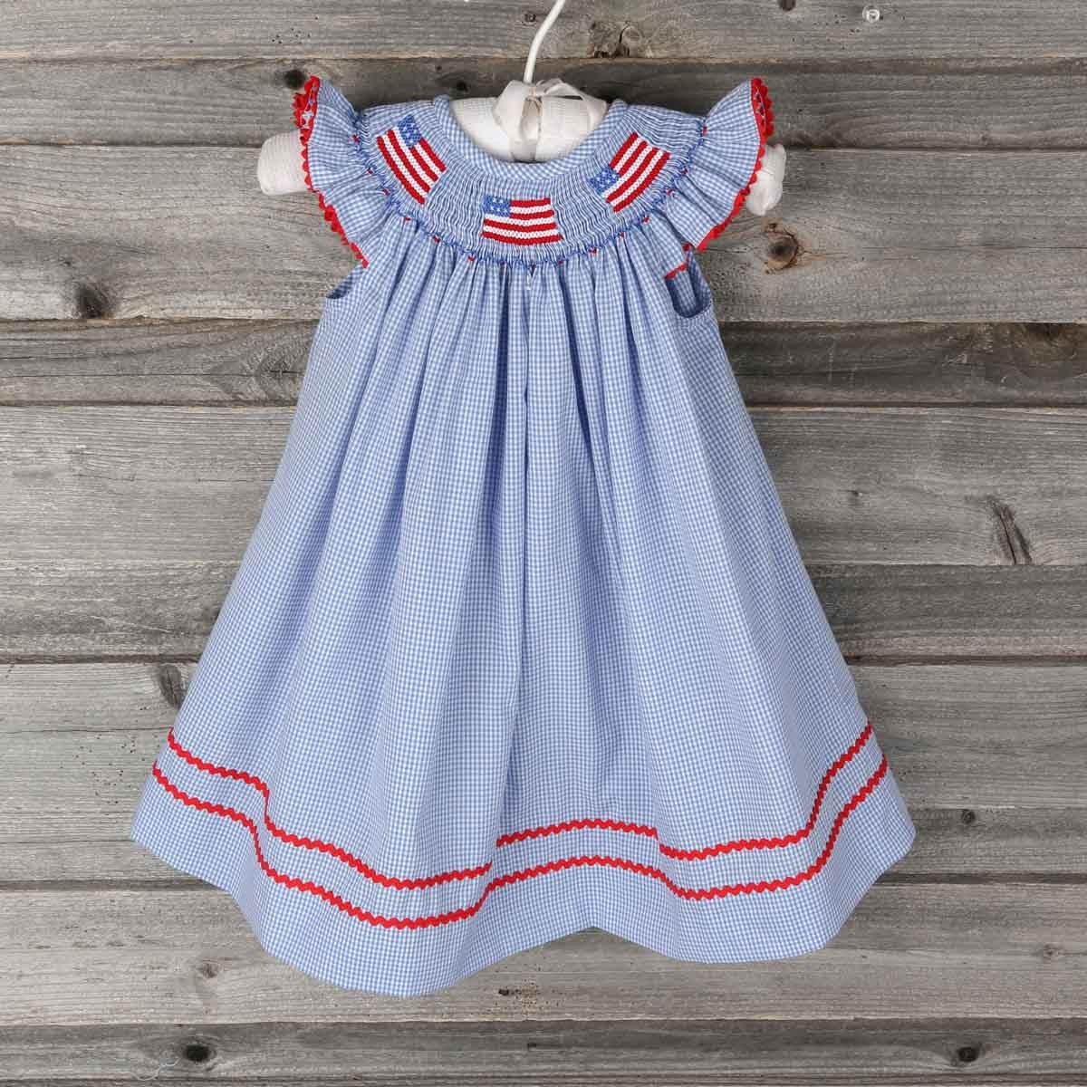 42f586cfc46 Smocked Flag Dress by Southern Sunshine Kids from Smocked Auctions ...